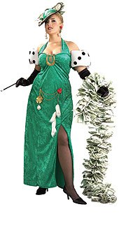 Lady Luck Sexy Womens Costume Adult Halloween Outfit ? Plus Size: Dress Size 14-16
