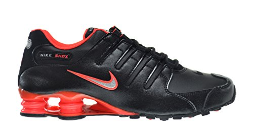 Nike Shox NZ Men's Shoes Black/Metallic Silver-Bright Crimson 378341-006 (13 D(M) US) (Classic Nike Shox compare prices)