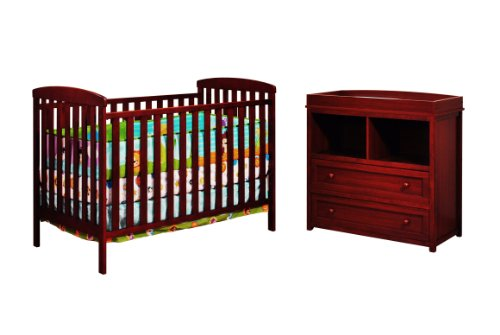 Athena Leila 2 Piece Nursery Set, Cherry