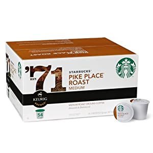 Starbucks Pike Place Roast, K-Cup Portion Pack for Keurig K-Cup Brewers, 54-Count