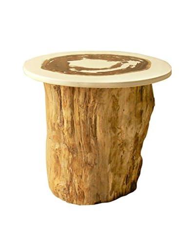 Jeffan Resin Top Organic Side Table, Natural