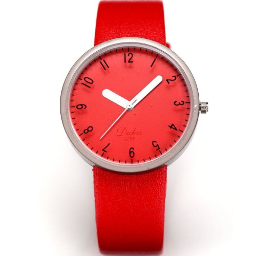AMPM24 Fashion Women Lady Red Dial Leather Sport Quartz Wrist Watch Gift