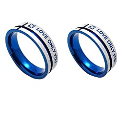 Couple rings for couples ring for love engagement wedding gifts ring sets men womenALRG0345BL
