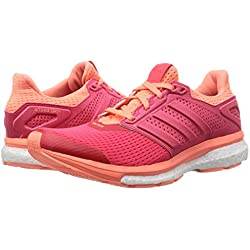 Adidas AF6558 Supernova Glide Womens Running Shoe (Red/Sun Glow)