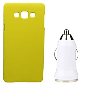 Toppings Hard Case Cover With Car Charger For Samsung Galaxy J2 - Yellow