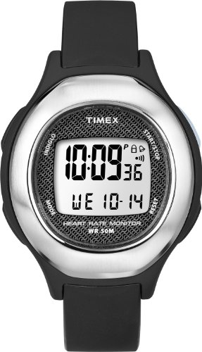 Cheap Timex Black Health Touch Heart Rate Monitor Ladies Watch T5K483 (T5K483F7)