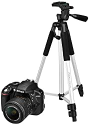 Nikon D3300 24.2 MP Digital SLR Camera (Black) with 18-55mm VR II Lens Kit with 8GB Card and Camera Bag + Photron Stedy 450 Tripod