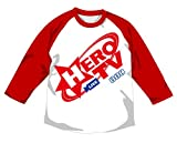 TIGER & BUNNY HERO TV ラグランTシャツ ホワイト×レッド サイズ:M
