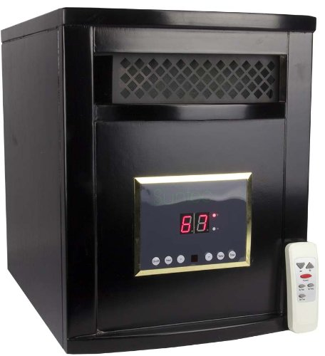 Suntec Lrc2000 Portable 1200 Sq Ft Infrared Quartz Electric Space Heater - 1500W