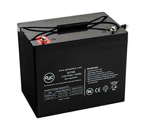 Batterie EV Rider Royale 4 Wheel 12V 75Ah Fauteuil roulant - Ce produit est un article de remplacement de la marque AJC®