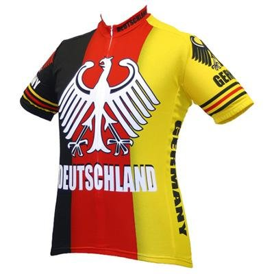 Buy Low Price World Jersey's Men's Germany/Deutschland Team Short Sleeve Cycling Jersey (B001AX3BVG)