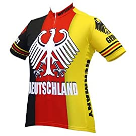 World Jersey's Men's Germany/Deutschland Team Oiginal Short Sleeve Cycling Jersey