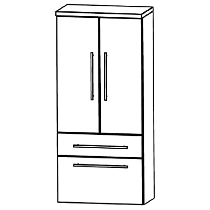 In Star Line Medium Cupboard (MNA886A7M) Bathroom Furniture-60cm