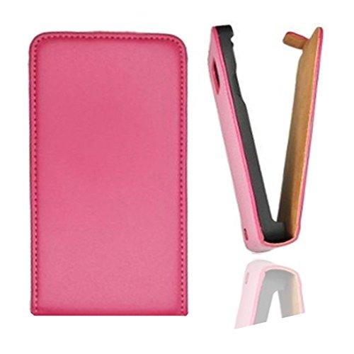 Flip Case Tasche Hülle Etui Handytasche SLIM in pink für Samsung Galaxy Trend GT-S7560 / S Duos GT-S7562 / Plus GT-S7580 / S Duos 2 GT-S7582 inkl. World-of-Technik Touchpen
