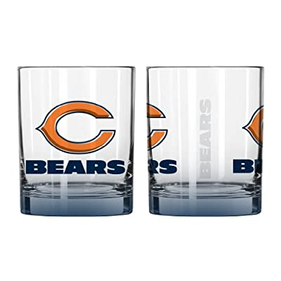 NFL Chicago Bears Elite Rocks Glass Set (2-Pack), 14-Ounce