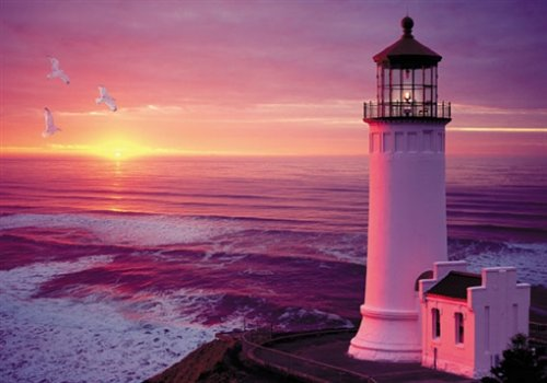 Lighthouse-Sunset-Jigsaw-Puzzle-2000pc