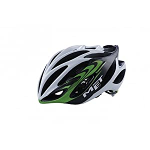 MET Road Elite Inferno Ultimalite Racing Bike Helmet grün green (Size: M (54 - 57 cm))