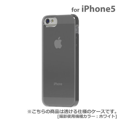 【正規代理店品】TUNEWEAR SOFTSHELL for iPhone5 スモーク TUN-PH-000143