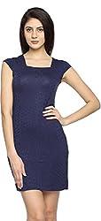 Texco Garments Women's A-Line Dress (16, Dark Blue, M)