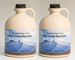 Mansfield Maple- Gallon (128oz) Pure Vermont Maple Syrup Grade A-Medium