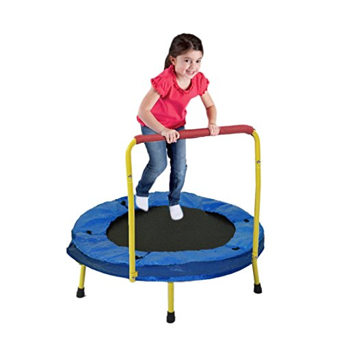 Dazzling-Toys-36-Foldable-Trampoline-with-handle-Yellow-D032