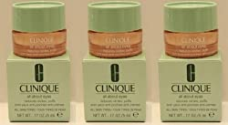 LOT of 3 Clinique All About Eyes Reduces Puffs Circle 5ml /Each *3= Total 15ml/0.5oz