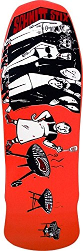 """Schmitt Stix Joe Lopes BBQ Og Bolt Pattern Red Skateboard Deck - 10.12"""" X 30.625"""""""