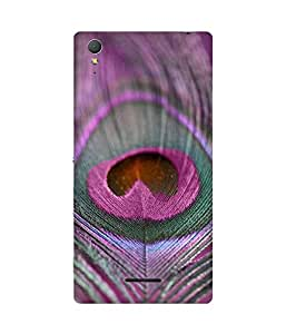 Pink Feather Sony Xperia T3 Case