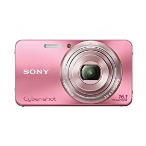 Sony Cyber-shot DSC W570 Point & Shoot Camera with 16.2MP, 5x Optical Zoom and 2.7 inch Screen (Pink)