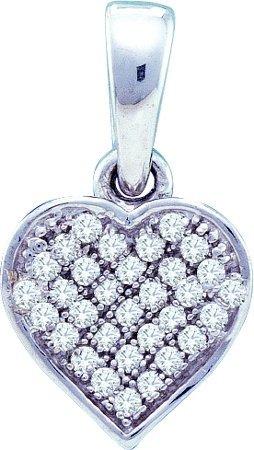 0.10CTW DIAMOND HEART PENDANT
