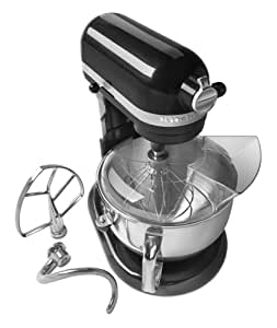 KitchenAid KP26M1XCV Professional 600 Series 6-Quart Stand Mixer, Caviar Gloss
