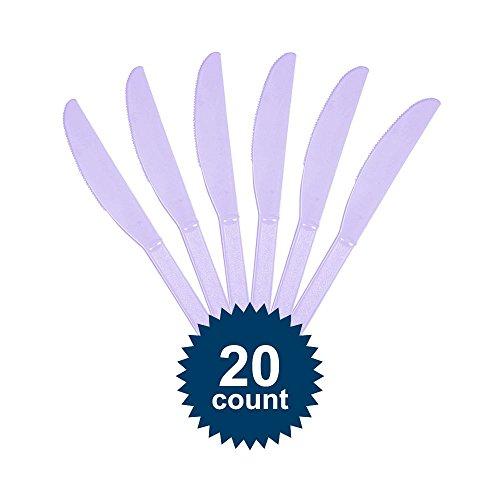 Amscan BB100049 Lavender Plastic Knives