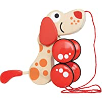Hape-Wooden Walk-A-Long Puppy