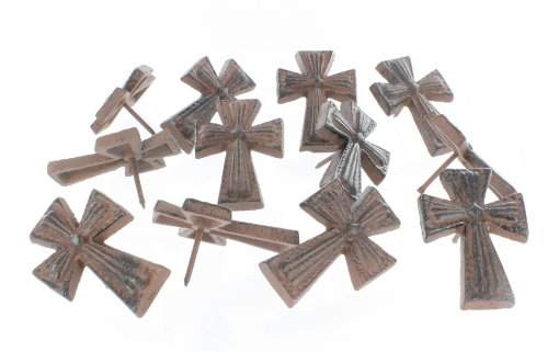 Cast Iron Cross Craft Pin / Tack / Nail - 12 Pcs. - Great Pins for Crafts, Woodwork, Candle Decoration Tacks (Cast Iron Craft Pins compare prices)