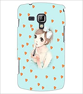 PrintDhaba Sweet Girl D-3707 Back Case Cover for SAMSUNG GALAXY S DUOS S7562 (Multi-Coloured)
