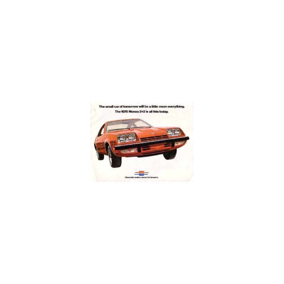 1975 Chevrolet Monza Sales Brochure Literature Book Piece Specs Options