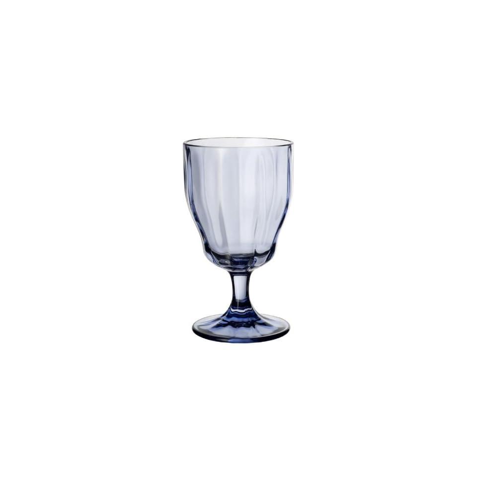 Villeroy boch crystal farmhouse touch blue water goblets for Villeroy boch crystal