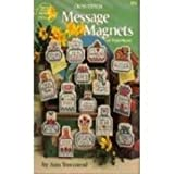 Cross Stitch Message Magnets on Vinyl-Weave