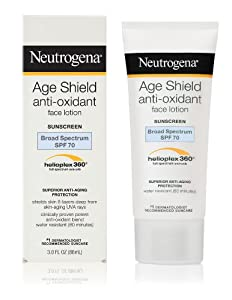 Neutrogena Age Shield Face Lotion, SPF 70, 3 Ounce (Pack of 2)