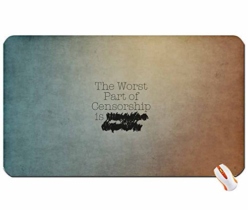 Abstract text quotes textures irony censorship gradient 1920x1200 wallpaper big mouse pad computer mousepad Dimensions: 23.6 x 13.8 x 0.2