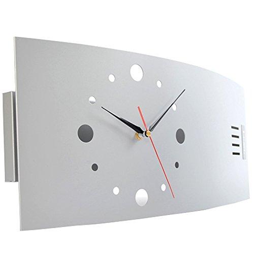 (レオン)LEON 掛け時計 置き時計 兼用 デザイナーズクロック インテリア おしゃれ オシャレ かわいい デザイナーズ クロック シルバー CM104