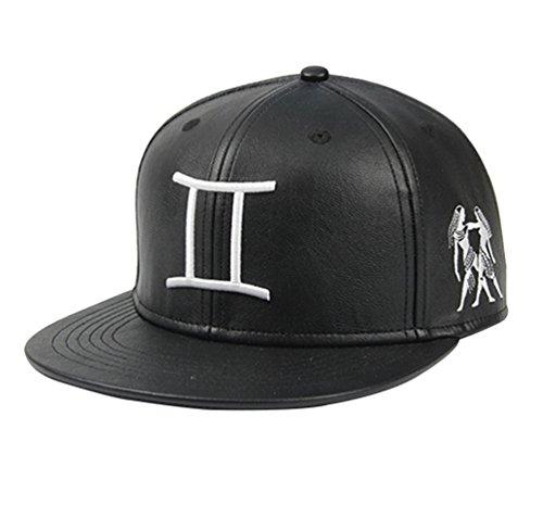 niseng-hip-hop-hat-zodiac-embroidered-snapback-cap-plain-baseball-caps-gemini
