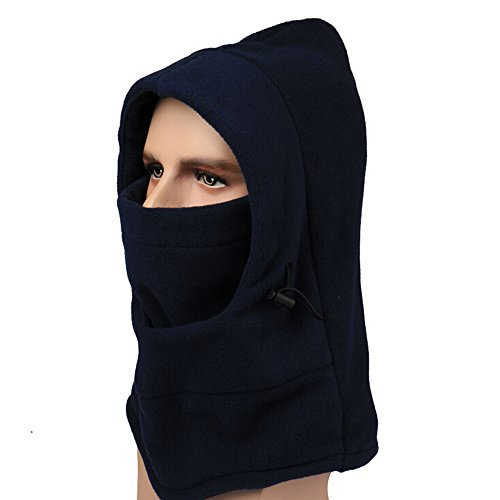Ezyoutdoor Fleece Balaclava Hooded Face Mask Swat Ski Neck Hoods Full Face Mask Cover Hat Cap for Riding Cycling Hunting Fishing Walking Outdoor Sports (Dark (Elvis Scarves)