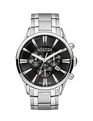 Roamer of Switzerland Men's 508837 41 55 50 Superior Black Dial Steel Chronograph Watch