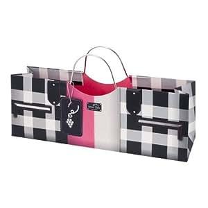 Wine Gift Bag: Black and Pink Fashion Wine Purse