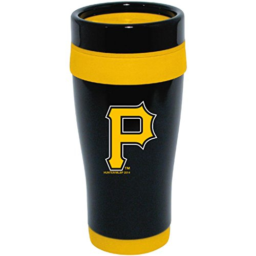 MLB Pittsburgh Pirates Stainless Steel Travel Tumbler, 16 oz., Black