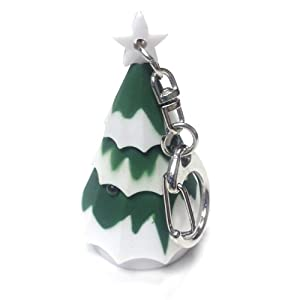 "JustforMoo ""Christmas Tree"" Light & Sound Keyring"