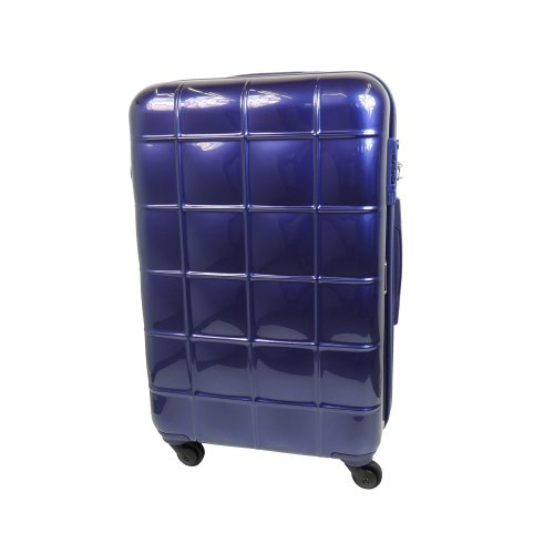 【 President 】スーツケース キズに強いダイアモンドエンボス加工 TSAロック搭載  【ECHOLAC エコーラック PC005】 6COLOR 3サイズ【大型、中型、小型】 (3.小型 Sサイズ 34リットル, パープル / ミラータイプ)