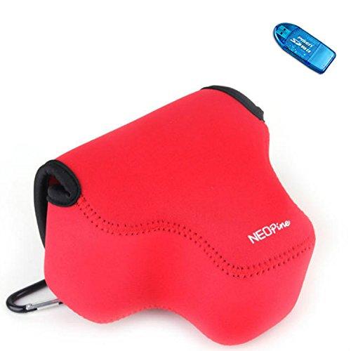 first2savvv-qsl-p600-08g10-red-neoprene-camera-case-bag-for-nikon-coolpix-p600-p610-sd-card-reader
