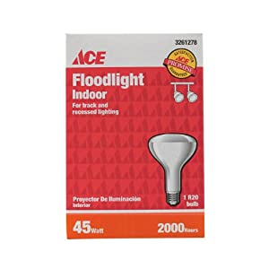 "G.e. Lighting 73693 ""Ace"" R20 Indoor Floodlight Reflector Bulb 45 Watt (Pack of 6)"